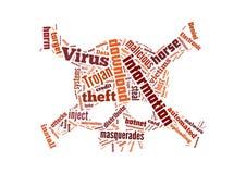 Ilustração do fundo do vírus de computador Fotografia de Stock