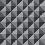 Ilustração do fundo sem emenda greyscale do squre 3D Imagens de Stock Royalty Free