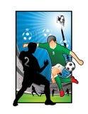 Ilustração do futebol do futebol Fotografia de Stock Royalty Free