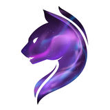 Ilustração do gato da noite Imagem de Stock