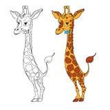 Ilustração do giraffe dos desenhos animados Vetor Fotografia de Stock