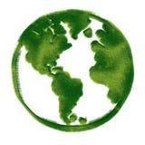 Ilustração do globo coberta com a grama. Fotos de Stock Royalty Free