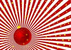 Ilustração do globo do Natal de Grunge Foto de Stock Royalty Free