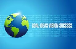 ilustração do globo do objetivo, das ideias, da visão e do sucesso Foto de Stock