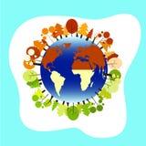 Ilustração do globo para a terra ilustração royalty free