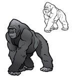 Ilustração do gorila de Silverback imagens de stock