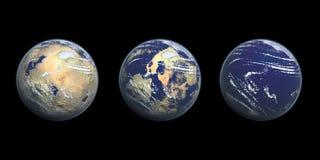 Ilustração do gráfico 3D do aquecimento global Imagem de Stock Royalty Free