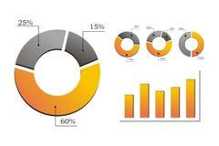 Ilustração do gráfico analítico Imagem de Stock