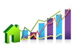 Ilustração do gráfico da casa Imagens de Stock