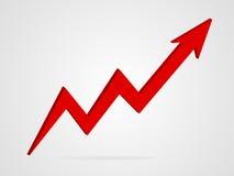 Ilustração do gráfico da seta do vetor 3d Foto de Stock
