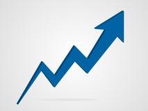 Ilustração do gráfico da seta do vetor 3d Imagens de Stock