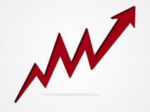 Ilustração do gráfico da seta do vetor 3d Imagens de Stock Royalty Free