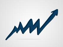 Ilustração do gráfico da seta do vetor 3d Fotos de Stock Royalty Free