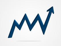 Ilustração do gráfico da seta do vetor 3d Fotografia de Stock