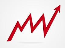 Ilustração do gráfico da seta do vetor 3d Fotografia de Stock Royalty Free