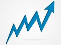 Ilustração do gráfico da seta do vetor 3d Imagem de Stock Royalty Free