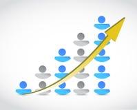 Ilustração do gráfico de negócio do sucesso dos povos Foto de Stock Royalty Free