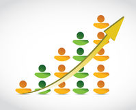 Ilustração do gráfico de negócio do sucesso dos povos Imagem de Stock