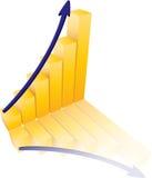 Ilustração do gráfico do sucesso ilustração stock