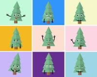 Ilustração do grupo da árvore de Natal Foto de Stock