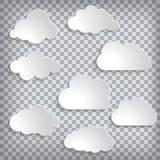 ilustração do grupo das nuvens em um fundo chequered ilustração stock