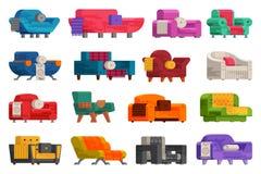 Ilustração do grupo do sofá Imagem de Stock