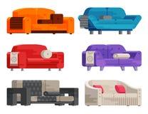 Ilustração do grupo do sofá Fotos de Stock