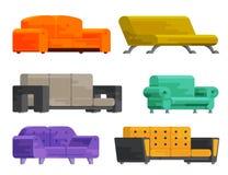 Ilustração do grupo do sofá Fotos de Stock Royalty Free