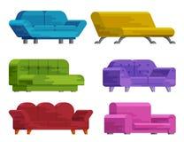 Ilustração do grupo do sofá Fotografia de Stock Royalty Free