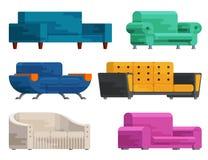 Ilustração do grupo do sofá Foto de Stock Royalty Free