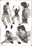 Ilustração do guerreiro do samurai Imagem de Stock Royalty Free