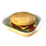 Ilustração do Hamburger 3D Fotos de Stock Royalty Free