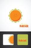 Ilustração do hamburguer do queijo Fotografia de Stock