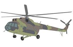 Ilustração do helicóptero Mi-8 Fotos de Stock Royalty Free