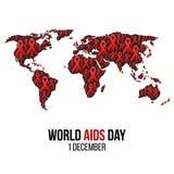 Ilustração do hiv, conscientização do vetor dos auxílios Foto de Stock