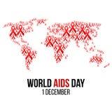 Ilustração do hiv, conscientização do vetor dos auxílios Fotografia de Stock Royalty Free