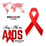 Ilustração do hiv, conscientização do vetor dos auxílios Fotos de Stock