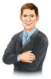 Ilustração do homem de negócios Foto de Stock