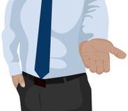 Ilustração do homem de negócios para o projeto Imagens de Stock Royalty Free