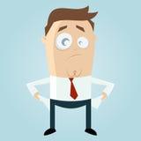 Homem de negócios pobre dos desenhos animados Foto de Stock Royalty Free