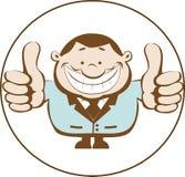 Ilustração do homem de negócios que mostra os polegares acima Foto de Stock Royalty Free