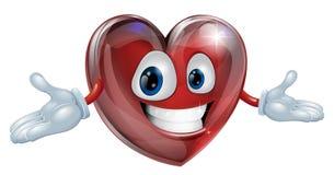 Ilustração do homem dos desenhos animados do coração Foto de Stock