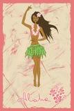 Ilustração do hula da dança da menina Imagem de Stock Royalty Free