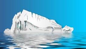 Ilustração do iceberg Fotografia de Stock