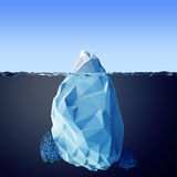 Ilustração do iceberg no mar Fotografia de Stock Royalty Free