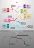 Ilustração do infographics da árvore do negócio Ilustração Royalty Free