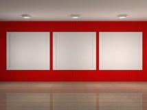 Ilustração do interior do museu com frames Fotografia de Stock Royalty Free
