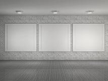 Ilustração do interior do museu com frames Imagem de Stock Royalty Free