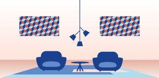 Ilustração do interior home moderno Fotos de Stock