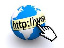 Ilustração do Internet Foto de Stock Royalty Free